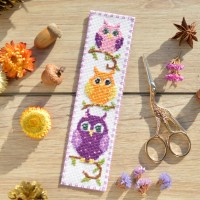 """Owls"" - Cross stitch bookmark"