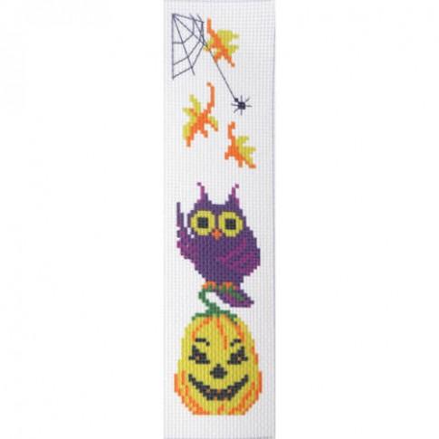 "Cross stitch bookmark ""Halloween Yellow pumpkin"""