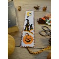 "Cross stitch bookmark ""Halloween pumpkin"""