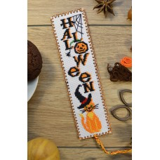 """Halloween"" - Cross stitch bookmark"