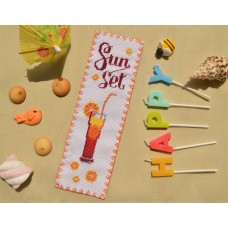 """Sunset"" - Cross stitch bookmark"