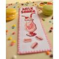 """Cross stitch bookmark """"Milk Shake"""""""