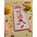 "Cross stitch bookmark ""Milk Shake"""
