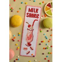 """Milk Shake"" - Cross stitch bookmark"
