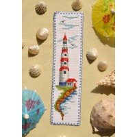 """Lighthouse"" - Cross stitch bookmark"