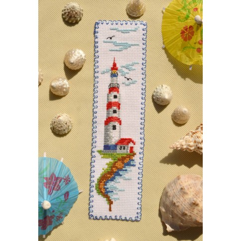 "Cross stitch bookmark ""Lighthouse"""
