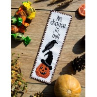 """No chance in hell"" - Cross stitch bookmark"