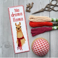 """No drama Llama"" - Cross stitch bookmark kit"