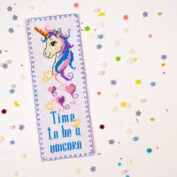 """Unicorn"" - Cross stitch bookmark kit"