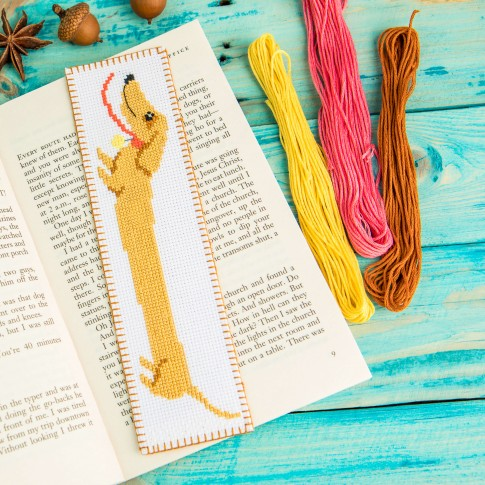 "Cross stitch bookmark kit ""Dachshund"""