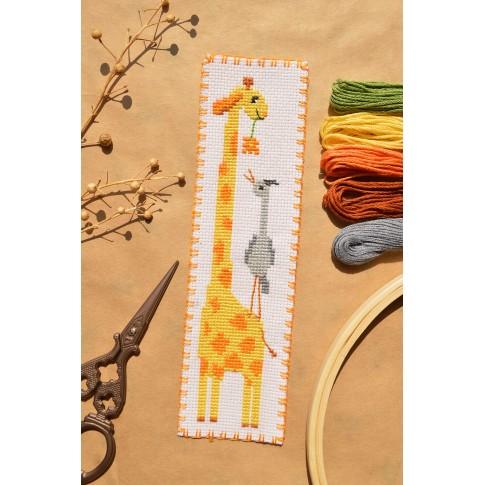 "Cross stitch bookmark ""Giraffe"""