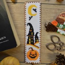 """Halloween pumpkin"" - Cross stitch bookmark kit"