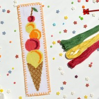 """Ice Cream"" - Cross stitch bookmark kit"