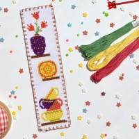 """Kitchen"" - Cross stitch bookmark kit"