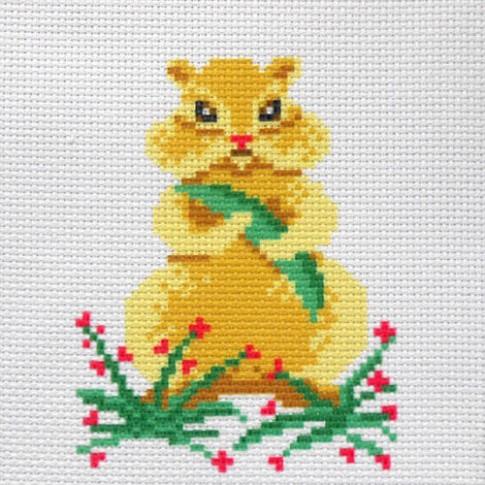 "Patterned needlework fabric ""Hamster"""