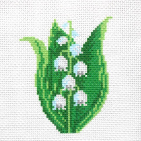 """Patterned needlework fabric """"Lily of the valley"""""""
