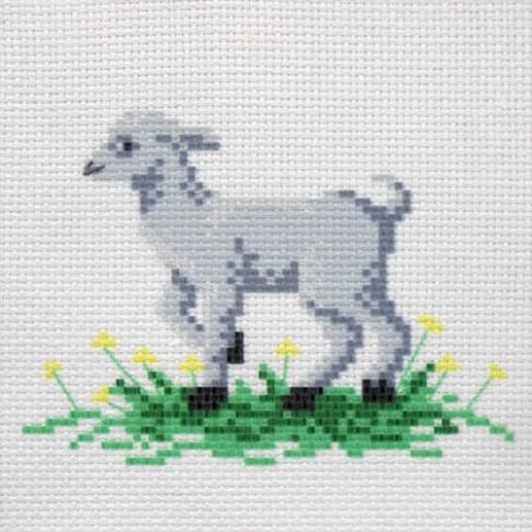 """Patterned needlework fabric """"Goat"""""""