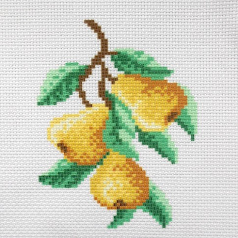 """Patterned needlework fabric """"Pears"""""""
