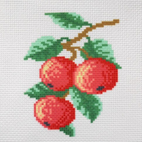"Patterned needlework fabric ""Apples"""