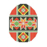 """Easter egg Geometry"" - Patterned needlework fabric"