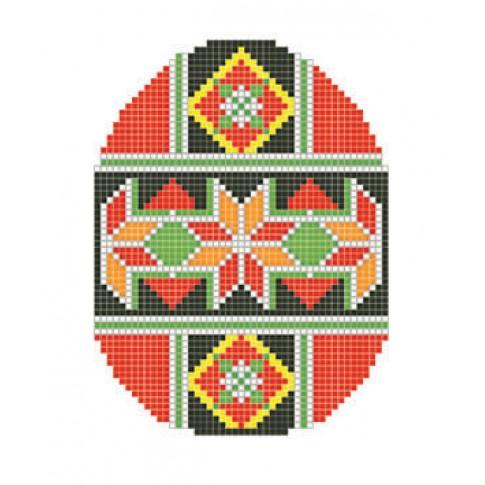 "Patterned needlework fabric ""Easter egg Geometry"""