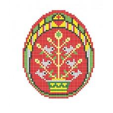 """Easter egg Birdies"" - Patterned needlework fabric"
