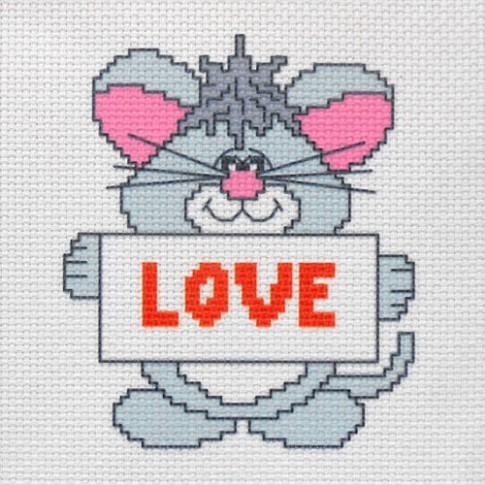 "Patterned needlework fabric ""Love"""