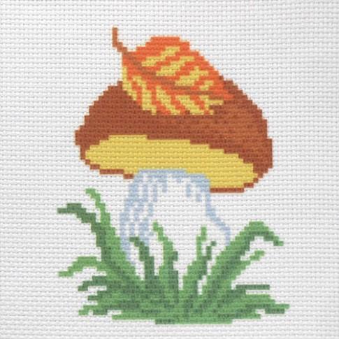 """Patterned needlework fabric """"Mushroom"""""""