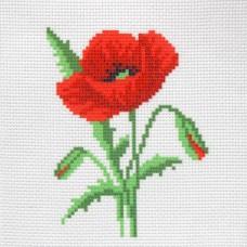 "Patterned needlework fabric ""Poppy"""
