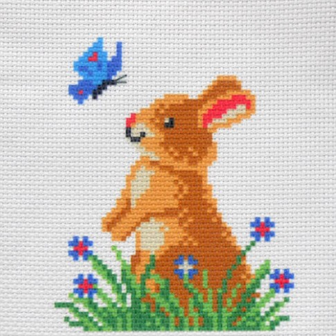 "Patterned needlework fabric ""Bunny"""