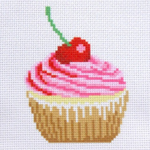 "Patterned needlework fabric ""Cake"""