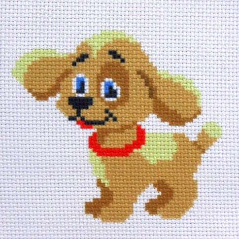 "Patterned needlework fabric ""Puppy"""
