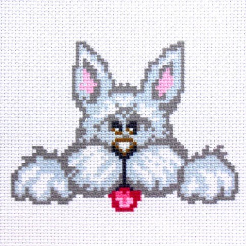 """Patterned needlework fabric """"Cairn Terrier"""""""