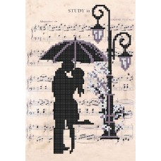 "Bead embroidery kit ""Romantic Rain"""
