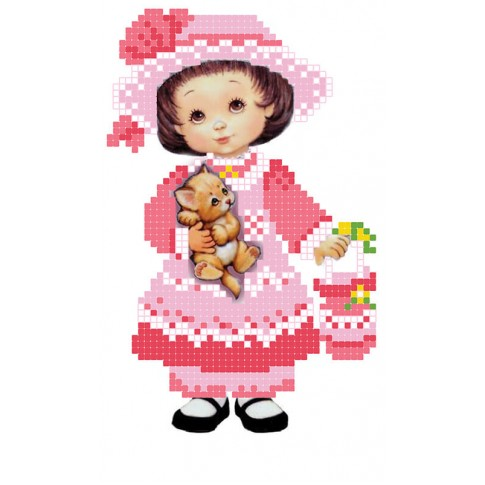 """Bead embroidery pattern """"Little lady"""""""