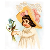 """""""Girl with irises"""" - Bead embroidery pattern"""