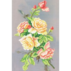"""Bead embroidery kit """"Night roses"""""""