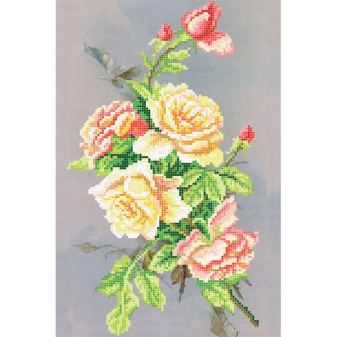 "Bead embroidery kit ""Night roses"""