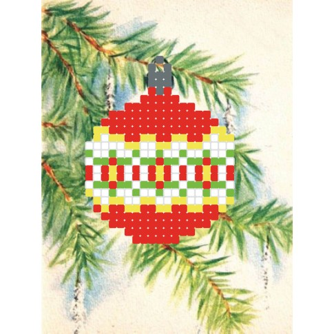 "Bead embroidery pattern ""Christmas Ball"""