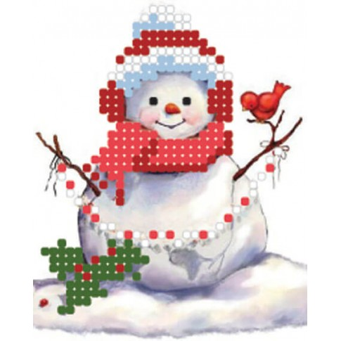 """Bead embroidery pattern """"Snowman"""""""