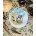 "Bead embroidery pattern ""Moon owl"""