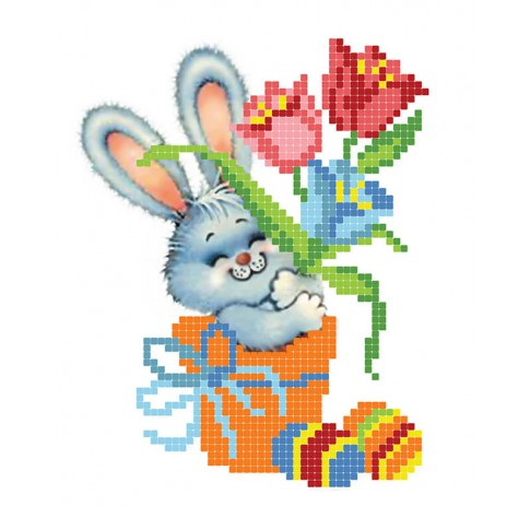 """Bead embroidery pattern """"Little hare"""""""