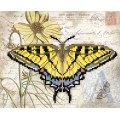 "Bead embroidery pattern ""Yellow Butterfly"""