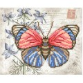 "Bead embroidery pattern ""Red-blue butterfly"""