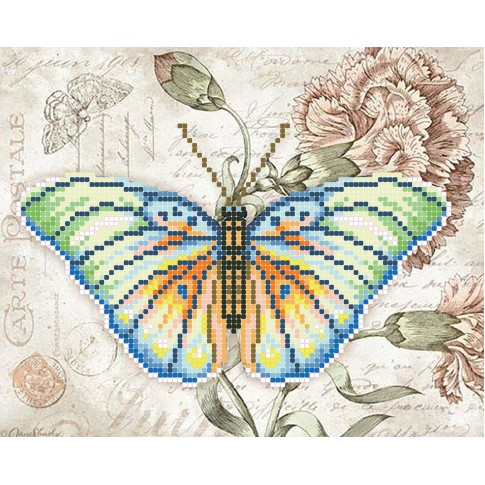 """Bead embroidery pattern """"Exotic butterfly"""""""