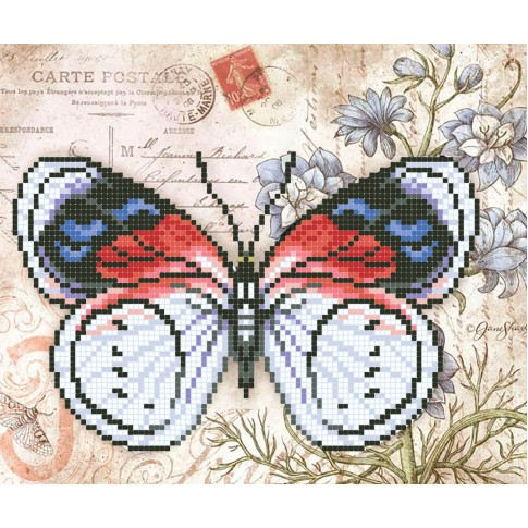 "Bead embroidery pattern ""French butterfly"""