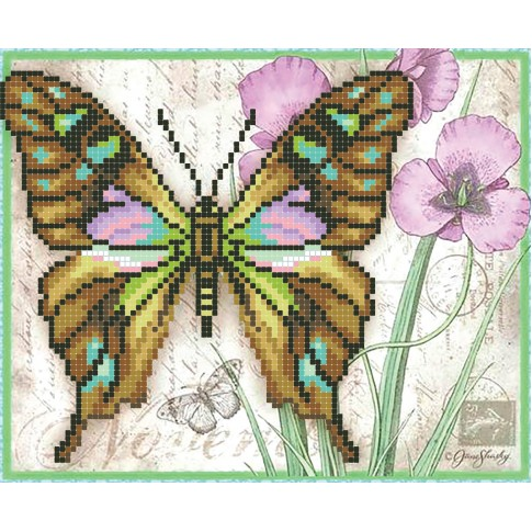 "Bead embroidery pattern ""Malachite butterfly"""