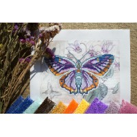 """Lilac butterfly"" - Bead embroidery pattern"