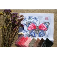 """Red-blue butterfly"" - Bead embroidery pattern"