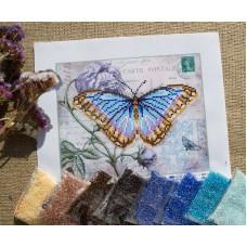 """Sky Blue Butterfly"" - Bead embroidery pattern"